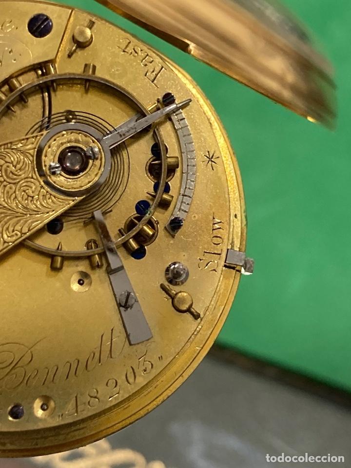 Relojes de bolsillo: Magnifico reloj de bolsillo oro de 18 klts relojero Jonh bennet, relojero real - Foto 11 - 275560418