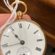 Relojes de bolsillo: MAGNIFICO RELOJ DE BOLSILLO ORO DE 18 KLTS RELOJERO JONH BENNET, RELOJERO REAL. Lote 275560418