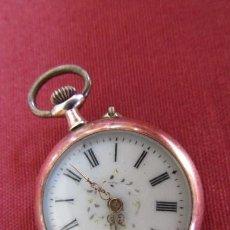Relojes de bolsillo: RELOJ ANTIGUO DE BOLSILLO MECÁNICO SUIZO DE PLATA A CUERDA MANUAL AÑO PERIODO 1880 - 1900 Y FUNCIONA. Lote 275579688