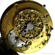Relojes de bolsillo: A.BELLOU- RELOJ DE BOLSILLO CARGA MANUAL, CAJA DE PLATA- VERGE FUSEE- CATALINO- TRABAJANDO 100%. Lote 275600398