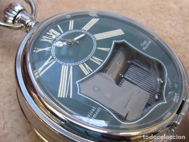Relojes de bolsillo: RELOJ DE BOLSILLO DE CUARZO CON SONERIA MUSICAL CON SISTEMA DE CUERDA MECANICA - Foto 2 - 275795903