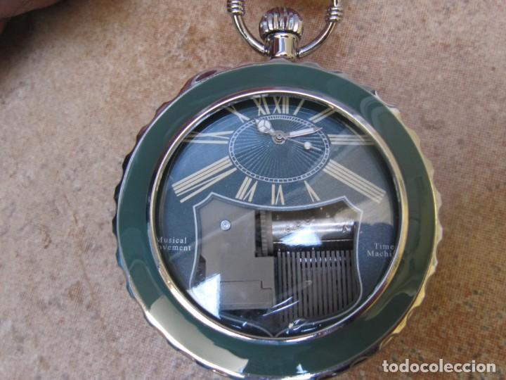 Relojes de bolsillo: RELOJ DE BOLSILLO DE CUARZO CON SONERIA MUSICAL CON SISTEMA DE CUERDA MECANICA - Foto 7 - 275795903