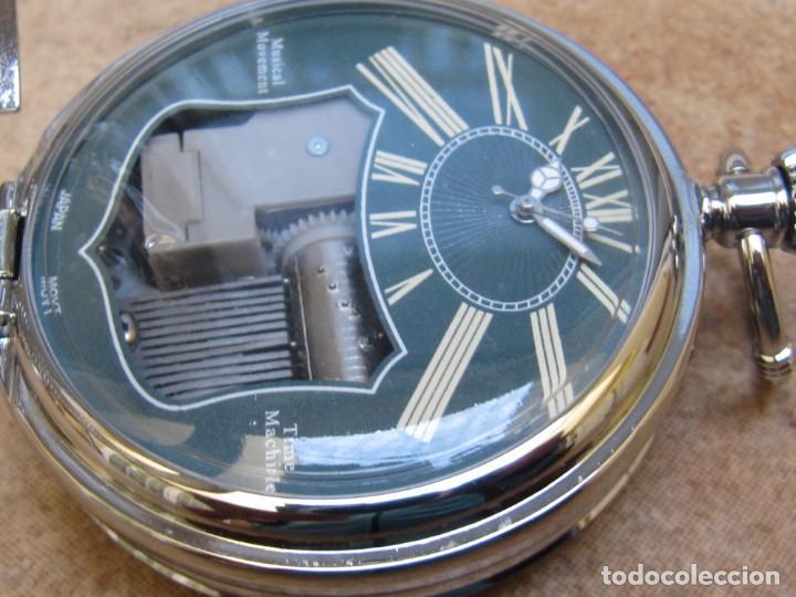 Relojes de bolsillo: RELOJ DE BOLSILLO DE CUARZO CON SONERIA MUSICAL CON SISTEMA DE CUERDA MECANICA - Foto 9 - 275795903