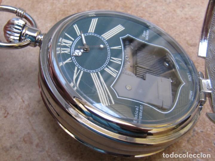 Relojes de bolsillo: RELOJ DE BOLSILLO DE CUARZO CON SONERIA MUSICAL CON SISTEMA DE CUERDA MECANICA - Foto 11 - 275795903