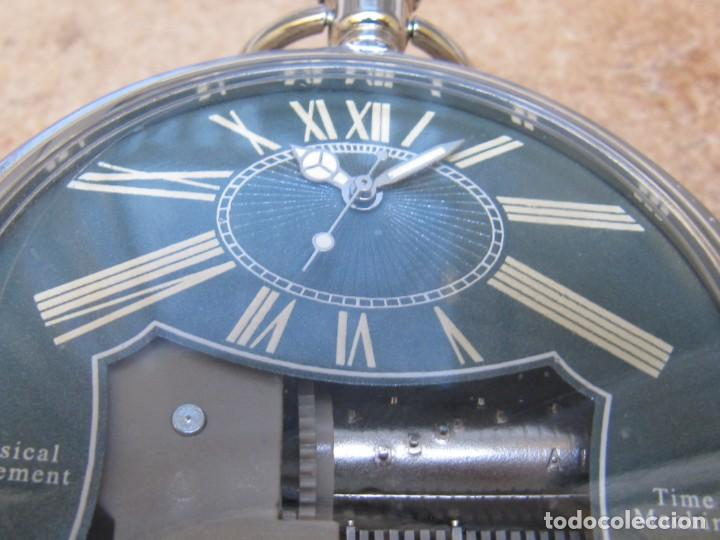 Relojes de bolsillo: RELOJ DE BOLSILLO DE CUARZO CON SONERIA MUSICAL CON SISTEMA DE CUERDA MECANICA - Foto 16 - 275795903