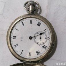 Relojes de bolsillo: ANTIGUO RELOJ DE BOLSILLO, WALTHAM U.S.A., CAJA DE PLATA, 4 TAPAS, DIAMETRO 48 MM, NO FUNCIONA. Lote 276286393