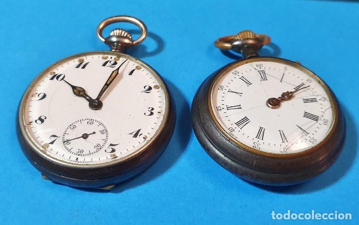 RELOJES DE BOLSILLO - DOS DE MUJER (Relojes - Bolsillo Carga Manual)