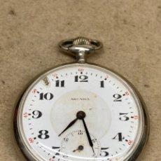 Relojes de bolsillo: RELOJ DE BOLSILLO ARCADIA CARGA MANUAL. Lote 276940588