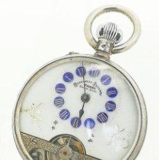 Relojes de bolsillo: RELOJ DE BOLSILLO HEBDOMAS 8 DAYS DE PLATA 800 SWISS MADE DE 1910 (CUERDA Y CORONA MAL). Lote 277114873