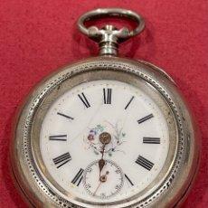 Relojes de bolsillo: PRECIOSO RELOJ ANTIGUO, EN PLATA DE LEY. S.XIX. Lote 277140338