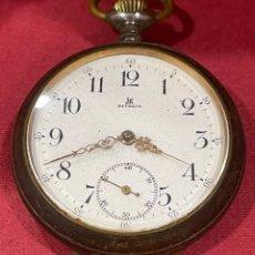 Relojes de bolsillo: ANTIGUO RELOJ DE BOLSILLO, EN METAL PAVONADO, RIVOLIA. Lote 277141358