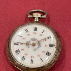 Relojes de bolsillo: ANTIGUO RELOJ DE BOLSILLO DE PLATA. S.XIX. Lote 277185653
