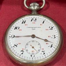 Relojes de bolsillo: ANTIGUO RELOJ DE BOLSILLO, MODERNISTA, CHRONOMETRE LIP.. Lote 277186743