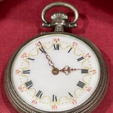 Relojes de bolsillo: PRECIOSO RELOJ DE BOLSILLO, ANTIGUO, DE PLATA DE LEY.. Lote 277188023