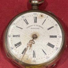 Relojes de bolsillo: ANTIGUO RELOJ DE BOLSILLO EN PLATA DE LEY, GARSAC A TALMONT. BREVETE.. Lote 277189743