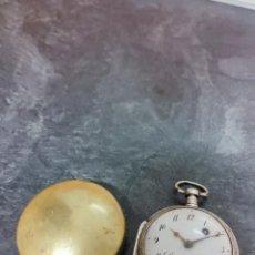 Relojes de bolsillo: RELOJ CATALINA GOLIAT PLATA LABRADA CONTRASTADA CIRCA 1800 CON CHICHONERA BUEN ESTADO FUNCIONA. Lote 277538698