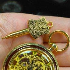 Relojes de bolsillo: RELOJ DE BOLSILLO DE COLECCION FUNCIONANDO CORRECTAMENTE A CUERDA. Lote 277607863