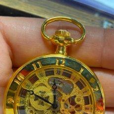 Relojes de bolsillo: RELOJ DE BOLSILLO DE COLECCION FUNCIONANDO CORRECTAMENTE A CUERDA. Lote 277609493