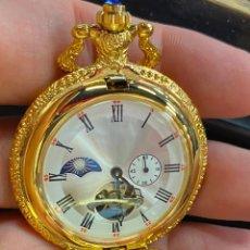 Relojes de bolsillo: RELOJ DE BOLSILLO DE COLECCION FUNCIONANDO CORRECTAMENTE A CUERDA. Lote 277609593