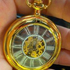 Relojes de bolsillo: RELOJ DE BOLSILLO DE COLECCION FUNCIONANDO CORRECTAMENTE A CUERDA. Lote 277615448