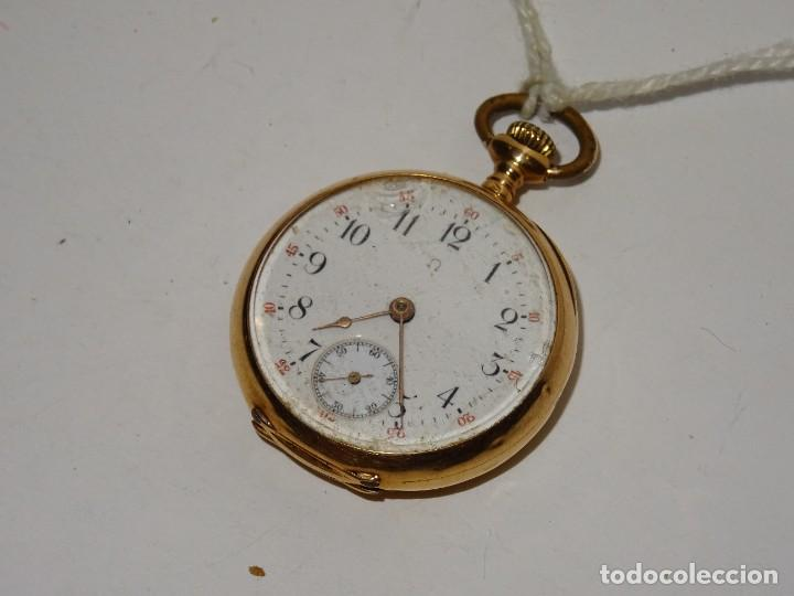 ANTIGUO RELOJ - OMEGA - CARGA MANUAL DE ORO 18 KL. ESTADO DE FUNCIONAMIENTO . 4,5X3,3 CM. (Relojes - Bolsillo Carga Manual)