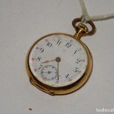 Relojes de bolsillo: ANTIGUO RELOJ - OMEGA - CARGA MANUAL DE ORO 18 KL. ESTADO DE FUNCIONAMIENTO . 4,5X3,3 CM.. Lote 278884268