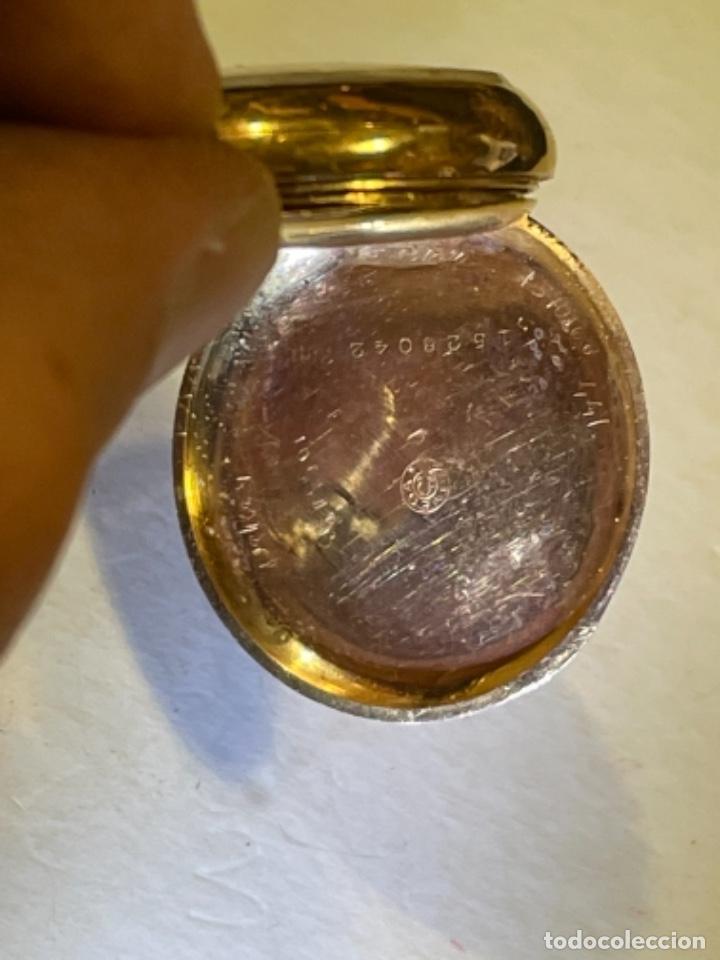 Relojes de bolsillo: ANTIGUO RELOJ - OMEGA - CARGA MANUAL DE ORO 18 KL. ESTADO DE FUNCIONAMIENTO . 4,5X3,3 CM. - Foto 9 - 278884268
