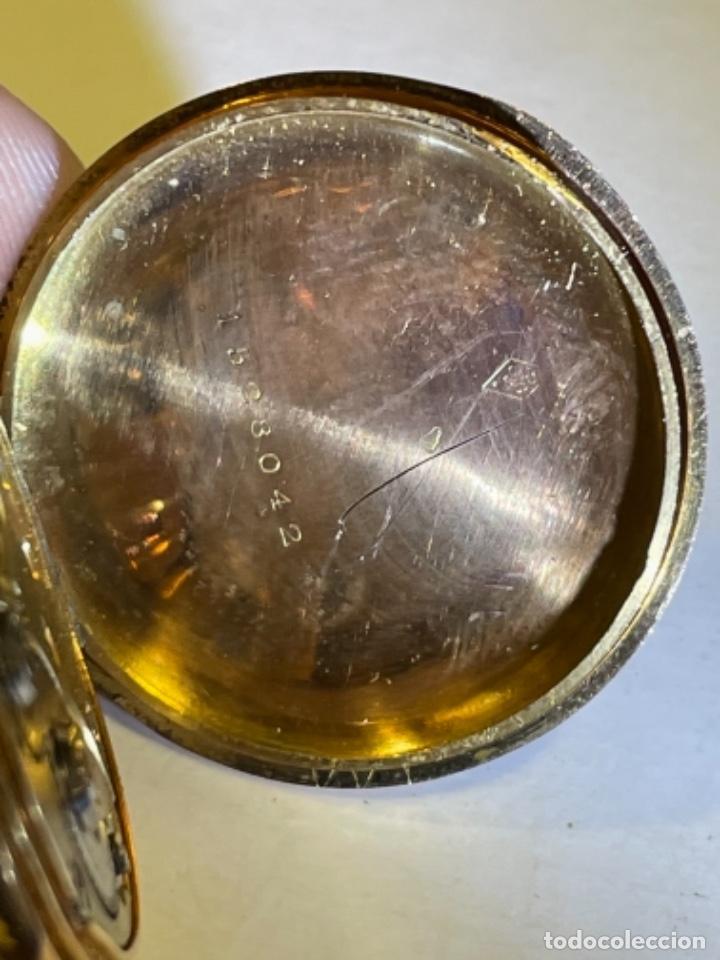 Relojes de bolsillo: ANTIGUO RELOJ - OMEGA - CARGA MANUAL DE ORO 18 KL. ESTADO DE FUNCIONAMIENTO . 4,5X3,3 CM. - Foto 10 - 278884268