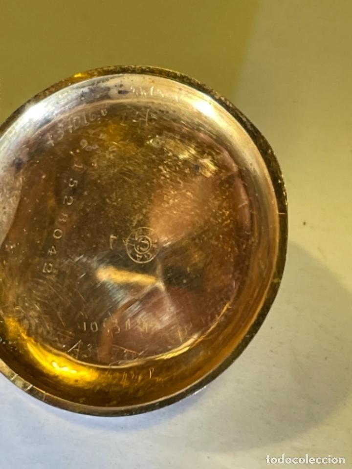 Relojes de bolsillo: ANTIGUO RELOJ - OMEGA - CARGA MANUAL DE ORO 18 KL. ESTADO DE FUNCIONAMIENTO . 4,5X3,3 CM. - Foto 11 - 278884268
