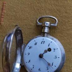Relojes de bolsillo: RELOJ BOLSILLO CATALINO PLATA. Lote 283253483
