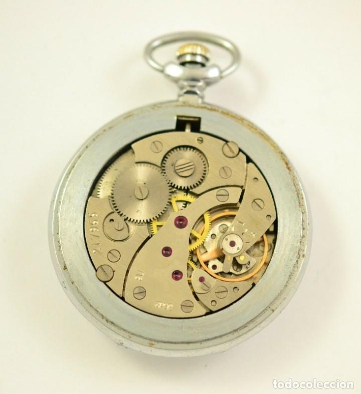 Relojes de bolsillo: ANTIGUO RELOJ DE BOLSILLO RUSO DE LA MARCA MOLNIJA CON TAPA EN RELIEVE AÑOS 60 18 RUBIES - Foto 5 - 283380693