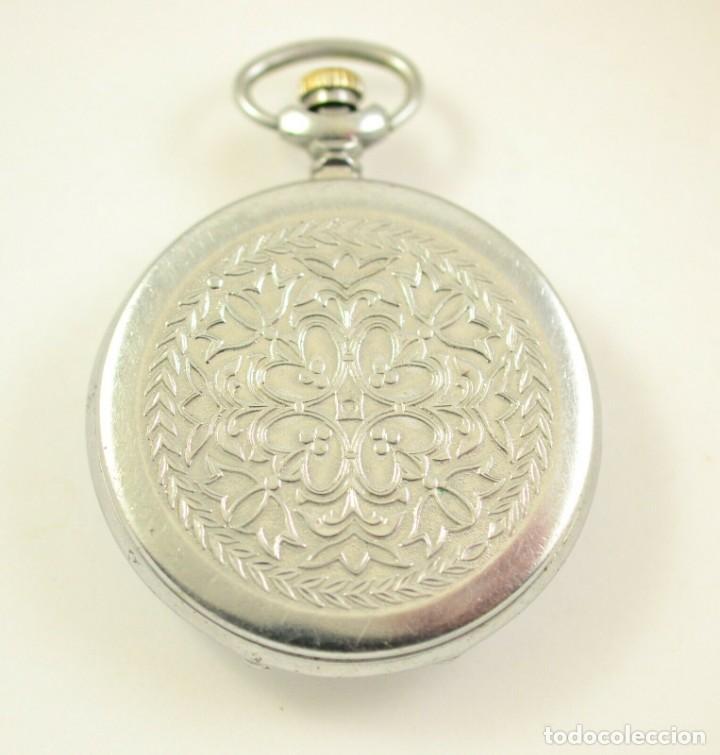 Relojes de bolsillo: ANTIGUO RELOJ DE BOLSILLO RUSO DE LA MARCA MOLNIJA CON TAPA EN RELIEVE AÑOS 60 18 RUBIES - Foto 3 - 283380693