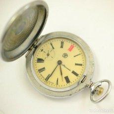 Relojes de bolsillo: ANTIGUO RELOJ DE BOLSILLO RUSO DE LA MARCA MOLNIJA CON TAPA EN RELIEVE AÑOS 60 18 RUBIES. Lote 283380693