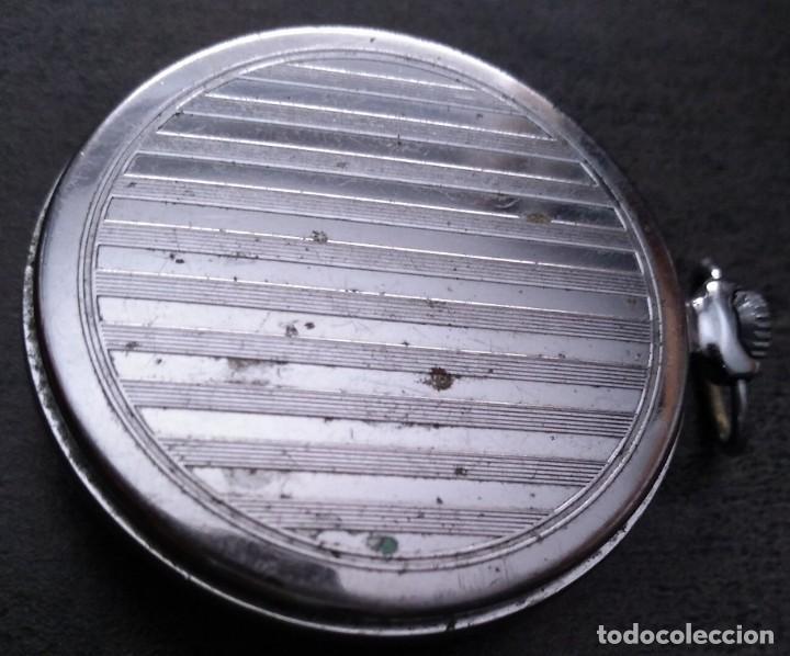 Relojes de bolsillo: ANTIGUO RELOJ DE BOLSILLO RUSO DE LA MARCA MOLNIJA DE LOS AÑOS 60 - Foto 3 - 283513618