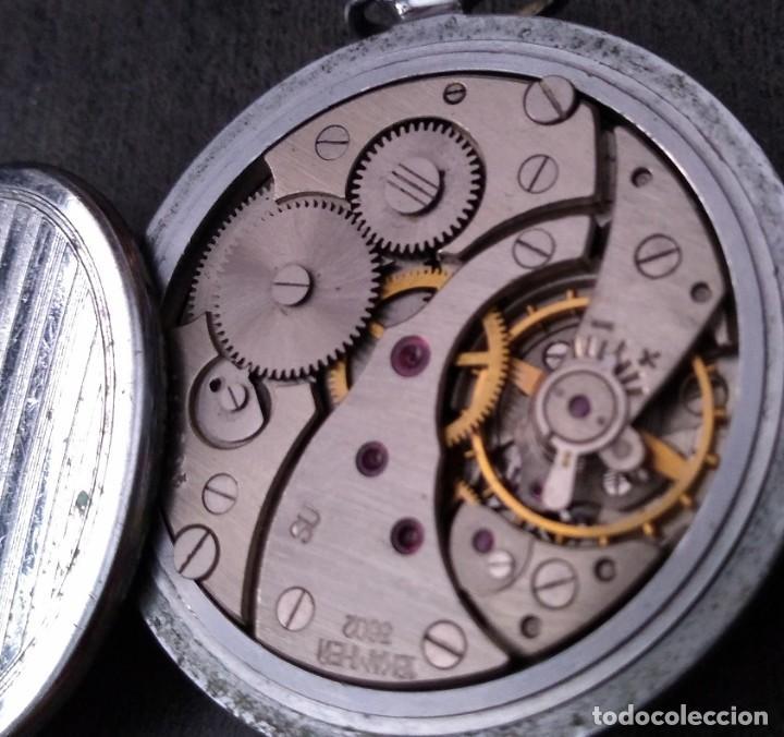 Relojes de bolsillo: ANTIGUO RELOJ DE BOLSILLO RUSO DE LA MARCA MOLNIJA DE LOS AÑOS 60 - Foto 4 - 283513618