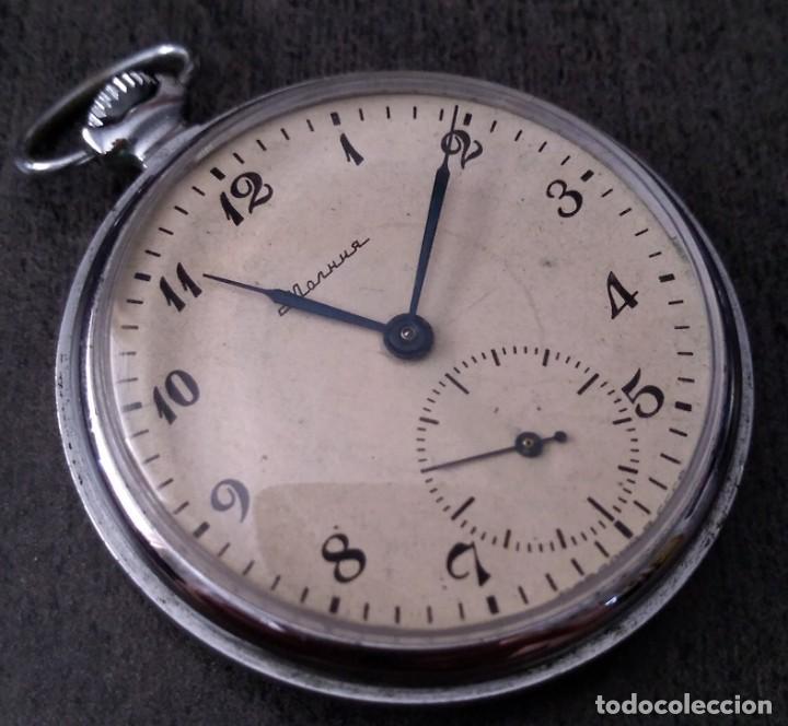 ANTIGUO RELOJ DE BOLSILLO RUSO DE LA MARCA MOLNIJA DE LOS AÑOS 60 (Relojes - Bolsillo Carga Manual)