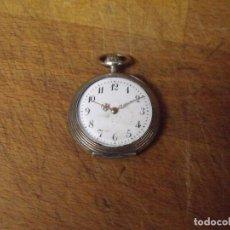 Relojes de bolsillo: ANTIGUO RELOJ BOLSILLO EN PLATA AÑO 1920 - LOTE 259-33-CON LEONTINA DE EPOCA. Lote 284527828