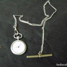 Relojes de bolsillo: ANTIGUO RELOJ BOLSILLO EN PLATA-MAQUINARIA SUIZA-LEONTINA DE PLATA-LOTE 259-34-FUNCIONA. Lote 284662958