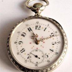 Relógios de bolso: RELOJ DE BOLSILLO ANTIGUO CON CAJA DE PLATA.. Lote 285101493