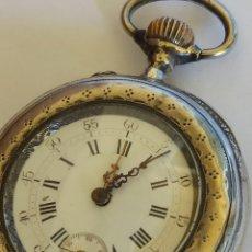Relojes de bolsillo: RELOJ DE BOLSILLO PLATA FECHADO AÑO 1888. Lote 285571483