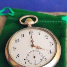 Relojes de bolsillo: RELOJ DE BOLSILLO, OMEGA, PLATA MACIZA, GRAN PRIX DE 1900,EXCELENTE CONDICIÓN. Lote 286162358