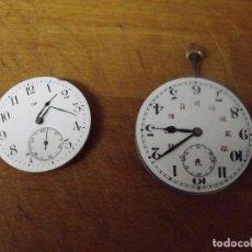 Relojes de bolsillo: 2 MAQUINARIAS PARA RELOJES BOLSILLO ANTIGUOS-LOTE 259-35. Lote 286373613
