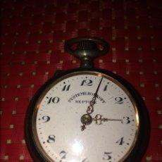 Relógios de bolso: ANTIGUO RELOJ DE BOLSILLO - SYSTEME ROSKOPF - NEPTUNE - SWISS MADE - 5 CMS. - NO FUNCIONA. Lote 287469473