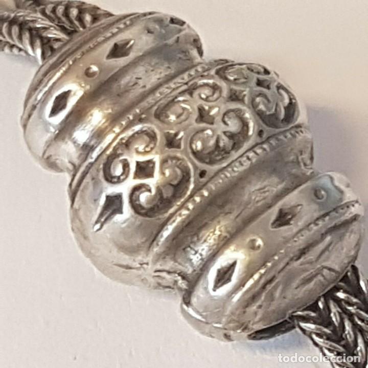 Relojes de bolsillo: PRECIOSA LEONTINA ART-DECO EN PLATA PARA RELOJ BOLSILLO-con llave de plata- AÑO 1910-LOTE 259-35 - Foto 6 - 287788458