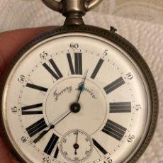 Relojes de bolsillo: MAGNIFICO RELOJ DE BOLSILLO TIPO GOLIAT, FUNCIONANDO. Lote 287796193