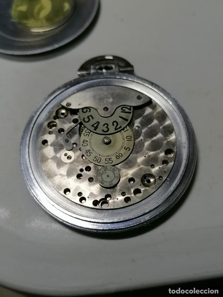 Relojes de bolsillo: RELOJ DE BOLSILLO ACERO DIGITAL CON SEGUNDERO, ART DECCO, DIAMETRO 48 MM, FUNCIONA, NO TIENE MARCA - Foto 6 - 287953588
