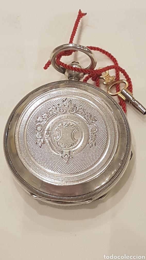 Relojes de bolsillo: RELOJ DE BOLSILLO DE PLATA PAUL BERTOL FLEURIER CON 3 TAPAS ESCAPE ANCORA 15 RUBIS FINALES SIGLO XIX - Foto 3 - 288578293