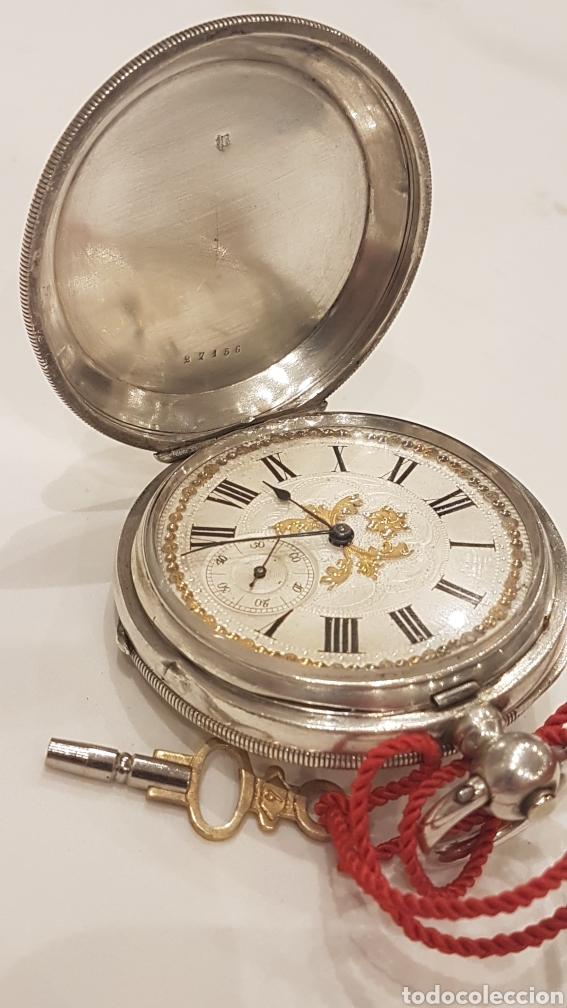 RELOJ DE BOLSILLO DE PLATA PAUL BERTOL FLEURIER CON 3 TAPAS ESCAPE ANCORA 15 RUBIS FINALES SIGLO XIX (Relojes - Bolsillo Carga Manual)