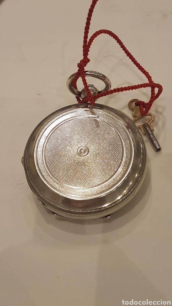 Relojes de bolsillo: RELOJ DE BOLSILLO DE PLATA PAUL BERTOL FLEURIER CON 3 TAPAS ESCAPE ANCORA 15 RUBIS FINALES SIGLO XIX - Foto 5 - 288578293
