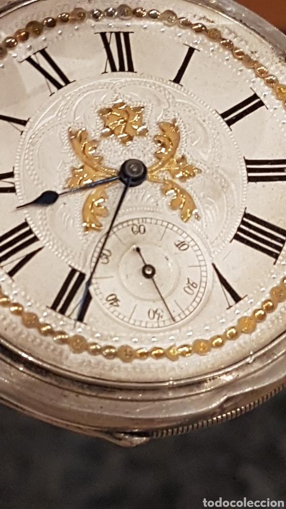 Relojes de bolsillo: RELOJ DE BOLSILLO DE PLATA PAUL BERTOL FLEURIER CON 3 TAPAS ESCAPE ANCORA 15 RUBIS FINALES SIGLO XIX - Foto 2 - 288578293